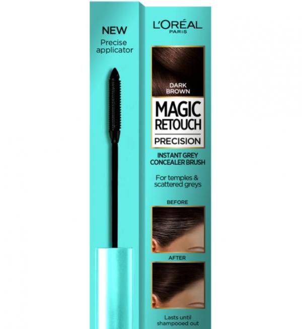 L'Oreal Magic Retouch Dark Brown Precision Instant Grey Concealer Brush