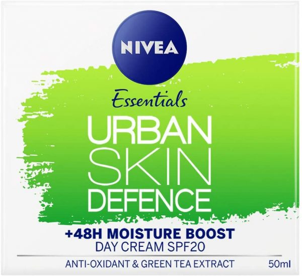 NIVEA Daily Essentials Urban Skin Defence +48H Moisture Boost Day Cream (50ml)