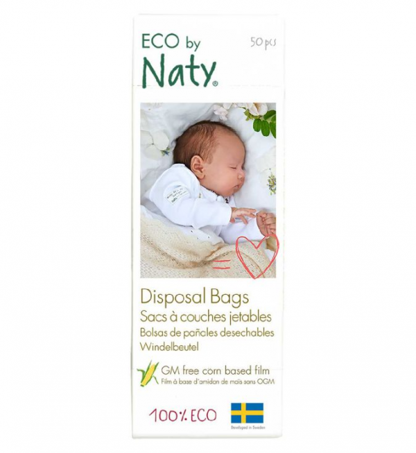 Naty Disposable Nappy Bags, single pack = 50 bags