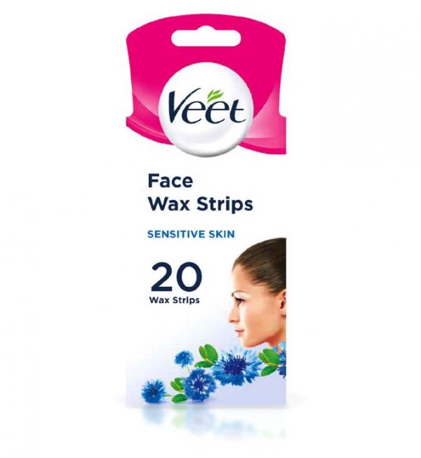 Veet Wax Strips Face for Sensitive Skin – 20 Wax Strips