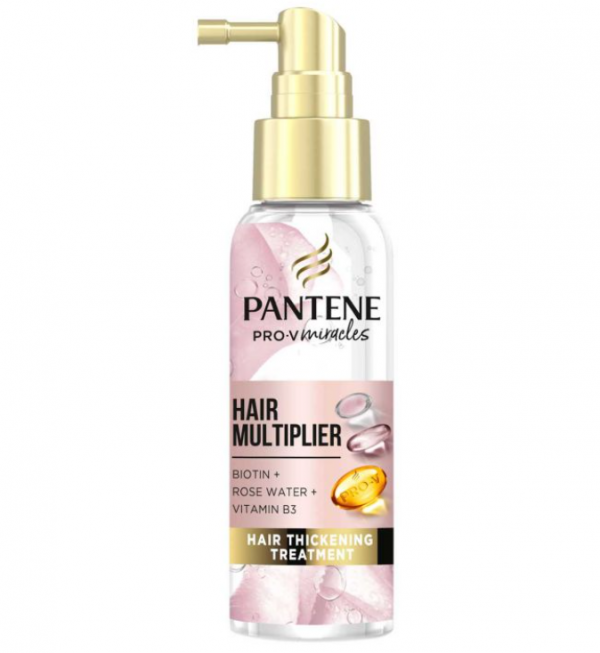 Pantene Hair Multiplier Leave-In Thickening Treatment with Biotin and Rose Water 100ml