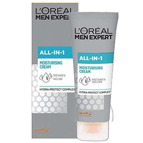 L'Oréal Men Expert All-In-One Soothing Post-Shave & Hydrating Face Cream for Sensitive Skin 75 ml